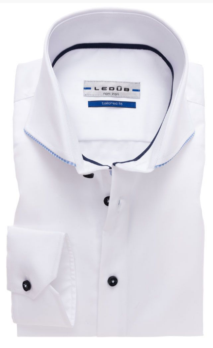Ledub Overhemd 0137266 Wit