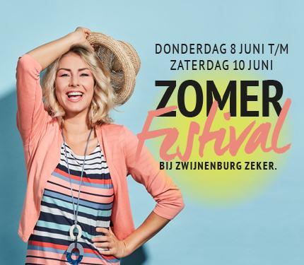 8,9 en 10 Juni is het Zomerfestival bij Zwijnenburg Mode